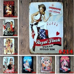 vintage motorcycle tin signs NZ - 5pcs lot Vintage Metal Painting Motorcycle Retro Tin Signs Bar Poster Decorative Plaques Art Craft Plate 20x30cm