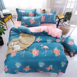 f04d45a930ccd edredon flamingo Bedding Sets Polyester Duvet Cover Set Bed Sheet  Pillowcase Twin Full Queen King size comforter set Home textile