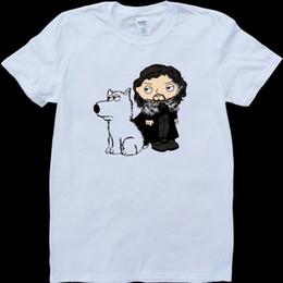 $enCountryForm.capitalKeyWord Australia - Stewie Griffin Jon Snow Direwolf Game Of Thrones White Custom Made Men's T-Shirt