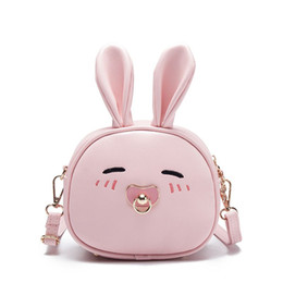 Backpack White Canada - The new style children bag small backpack little girl shoulder bag cute package pink blue black white bag