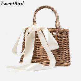 acfa6c5d62 TweetBird Straw Women s Handbag Casual Holiday Beach Bags Basket Bag  Fashion Female Rattan Package Woven Handbags bolsas