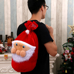 China Christmas Santa Claus Shaped Bag Big Candy Gift Bag Red Cloth Material Lucky Merry Christmas Father Bag Christmas Decorations suppliers
