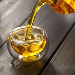Set da tè fatti a mano 6 pezzi / lotto 50ml resistente al calore doppia parete piccola tazza di vetro cinese Kung Fu Tea Flower Tea Water Cup