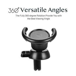 windshield phone holder wholesale 2019 - Universal Car Air vent mobile phone mounts holder 360 degree Rotatable Clip Hook Clasp Windshield Dashboard cell phone s