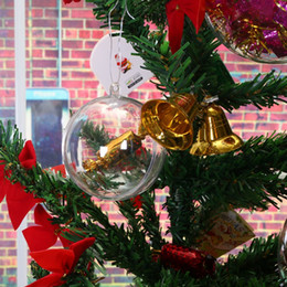 Plastic Christmas Ornament Australia - christmas Tree Hanging Decorations Round Ball Transparent Open Plastic Clear Ornament Kids DIY Party Supplies 4cm To 14.6cm