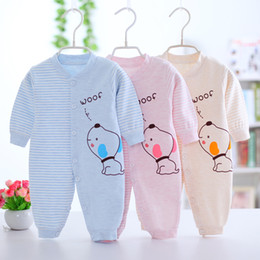 6226b3cef20 2018 New Children pajamas baby rompers newborn baby clothes long sleeve underwear  cotton costume boys girls autumn rompers