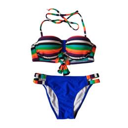 dbd58916eff60 2018 High Waist Bikini Two Piece Set Women Halter Neck Push Up Sexy  Swimsuit Woman Two Pieces Bandeau Bikini Plus Size Bathing Swimwear