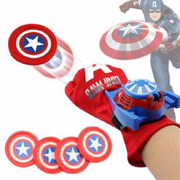 Marvel Ironman Toys Canada - DHL Cosplay Marvel Avengers Super Heroes Gloves Laucher Spiderman Ironman One Size Glove Gants Props Christmas Gift for Kid toys