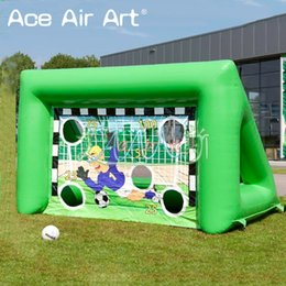 Wholesale carnival fun online – ideas Newest designed inflatable soccer carnival games inflatable football target games for children outdoor fun