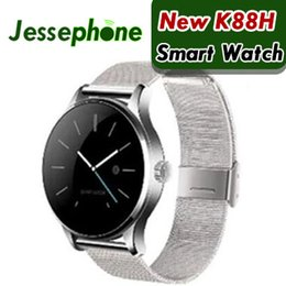 smartwatch ios k88h UK - K88H Smart Watch For iphone X IOS Android Heart Rate Monitor Watch 1.22 Inch IPS Round Screen Bluetooth Samsung SmartWatch 10pcs DHL