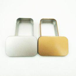 $enCountryForm.capitalKeyWord NZ - Tin Box Empty Silver Gold Metal Storage Box Case Container Organizer For Money Coin Candy Keys U disk headphones gift box