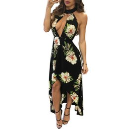 $enCountryForm.capitalKeyWord Canada - Summer Bohemia Printed Beachwear Dreeses After short before long Casual Dress Cover Ups Long Woman Dress halter collar Hi-Lo Dress