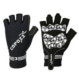 Vente en gros 1 paire COPOZZ GLV-1055 gants de cyclisme aérodynamiques résistants aux chocs demi-doigts