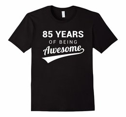 Vintage Tee Shirts Short 85th Birthday Gift Shirt Funny Awesome 85 Year Old Bday Idea O Neck T For Men