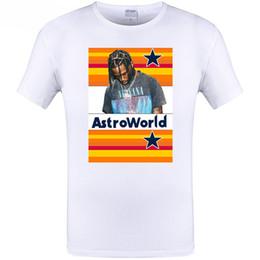 b5794a3079d3 Astroworld Letter Print Tshirt Rapper Travis Scott Men Women Hip Hop Tees  Top White Color Loose High Street T-shirt Short Sleeved Streetwear