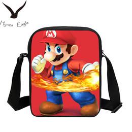 Red Messenger Bag For School Canada - Hynes Eagle Messenger Bags Cartoon Super Mario Printing Crossbody Bag For Girls Boys School Bags Fashion Casual Shoulder Bag