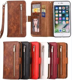 $enCountryForm.capitalKeyWord NZ - Detachable Removable Zipper Wallet Leather Phone Case Cover Strap For iphone XR XS Max X 8 7 6S Plus Samsung S10 S9 Plus