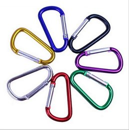 keying chain UK - Carabiner Ring Keyrings Key Chains Outdoor Sports Camp Snap Clip Hook Keychain Hiking Aluminum Metal Convenient Hiking Camping CNY190