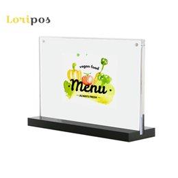 Desk Set Buy Cheap 10pcs 10*15cm A6 Upright Acrylic Magnetic Label Holder Stand L Shape Poster Banner Menu List Frame Advertising Sign Holder