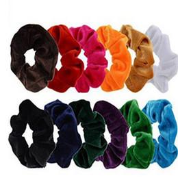 $enCountryForm.capitalKeyWord UK - New Women Velvet Hairband Elastic Hair Bands Ties Ponytail Holder Hair Accessories Ladies Girls Head Bands Hair Ring