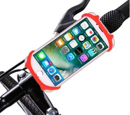 Wholesale Universal Bike Bicycle Mobile Phone Stand Holders Cellphone Support Clip Car Bike Mount Flexible Phone Holder Extend For IphoneX Samsung GPS