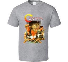 $enCountryForm.capitalKeyWord NZ - Contra Retro Nes Box Art Video Game T Shirt Cartoon T Shirt Men Unisex New Fashion Tshirt Loose Size Top Ajax 2018 Funny