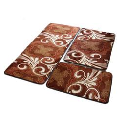 3pcs Set Doormat Non Slip Kitchen Carpet Bath Mat Home Entrance Floor Mats Hallway Area Rugs Decorative Foot Pad