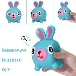 tongue toys 2019 - 9-12cm Cute Squeeze Stress Tongues Alternative Humorous Light Hearted Funny Relief Toys Talking Animal Ball For Kids Bir