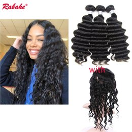 $enCountryForm.capitalKeyWord NZ - Brazilian 9A Unprocessed Remy 360 Frontal with Bundles Rabake Brazilian Loose Deep Wave Weave with Silk Base Closure 360 Frontal Fast Ship