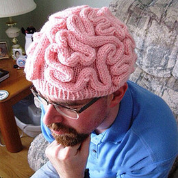 $enCountryForm.capitalKeyWord NZ - Hand Knitted Brain Hat Man Woman Kids Adults Personality Crochet Beanie Cool Halloween Cosplay Cerebrum Cap Pure Color Fashion 28 5xq bb