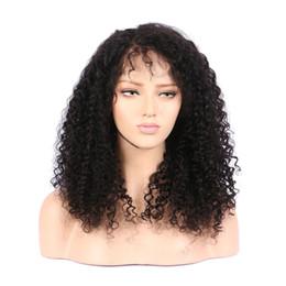 $enCountryForm.capitalKeyWord Australia - Natural aaaaaaaaaa discount 100% unprocessed remy virgin human hair long natural color kinky curly full lace cap wig for lady