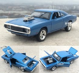 Discount dodge toys - 1:32 Alloy Car Model The Fast And The Furious Dodge Charger Four Color Metal Classical Cars For Kids Toys Free Shipping