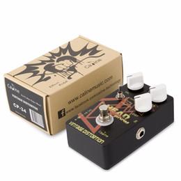 $enCountryForm.capitalKeyWord UK - Caline CP-34 Guitar Effects Pedals Aluminum Alloy Guitar Accessaries Vintage Distortion Effect Pedal Guitar True bypass