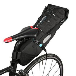 9df358e52b4 ROSWHEEL Bolsa de cola de bicicleta impermeable Paquete de almacenamiento  del poste del asiento Ciclismo MTB Bicicleta de carretera Paquete de bolsa  trasera ...