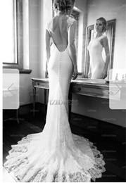 Silk Satin Sheath Wedding Dresses Australia - Sheath Column Jewel Court Train Elastic silk-like Satin Wedding DressZV