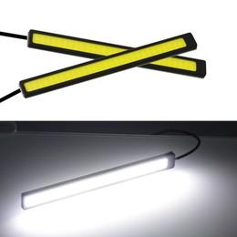 20X 17cm Universal COB DRL LED Luci di marcia diurna Lampada per auto Luci esterne Luci auto impermeabili per auto DRL a led in Offerta