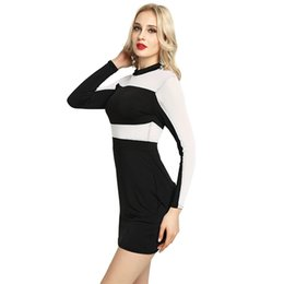 83282571d8bd S-XXL Sexy Bandage Dress New Spring Summer Black White Dress Long Sleeve  Hollow Out Pencil Bodycon Female Dresses