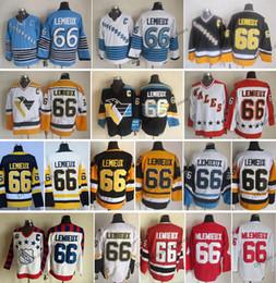 Mario Lemieux Yellow Jersey Australia - Vintage Pittsburgh Mario Lemieux  Hockey Jerseys Mens Cheap 66 Mario 2818b25ff6b