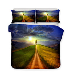 $enCountryForm.capitalKeyWord UK - 3D Printed Bedding Scenery Theme Green Country Road Bedding Sets duvet Cover Set