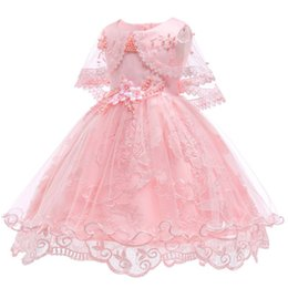 5249d9ae9 Flower Girl Dresses For Party Wedding Baby Girls 1st Years Birthday Outfit  Cotton Linging Children Girls First Communion Dresses