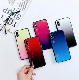 case color water proof Australia - Gradient Color Shock Proof Case for iPhone X XS MAX XR Fashion Fitted Case Cover Shell for iPhone 6 6s 7 8 Plus 200pcs lot