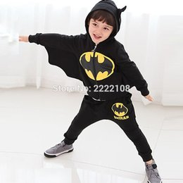 Wholesale Sexy New Kids Cosplay Halloween Costume winter children s clothing suits Cartoon batman costume children Black suit boys clothes S920