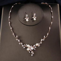 $enCountryForm.capitalKeyWord NZ - Red Trees Brand Luxury Rose Gold Color Wedding African Jewelry Set With AAA Cubic Zirconia and Man-made-pearl S18101508