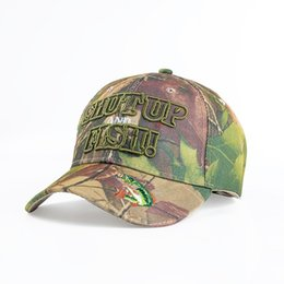 Per gli uomini Sun Shading Hat Outdoor Caccia Pesca Blank Desert Berretto da baseball Camouflage Shut Up Fish Casquette 9 5sx BB