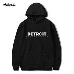 Hoodie Clothes Canada - Aikooki Detroit Become Human Hoodies Men Women Game Hoodies Autumn Winter Print Sweatshirts Casual Clothes Plus Size 4XL