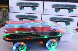 Skateboard Scooter Speaker NZ - 2018 Newest Christmas gift Skateboard Bluetooth Wireless scooter Speaker Mobile Audio Mini Portable Speakers with Led Light