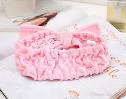 Wholesale Body Wash Products Australia - Free shipment JI-140 Stretch cotton headband Beauty Body wash towel turban headband essential Shower Caps Bathroom Products