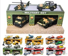 Wholesale 2018 Children s Toy Taxi Model Car Engineering Military Fire Police Ambulance Series Scenery Set Model