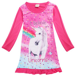 anime style clothing NZ - unicorn little girl dress cartoon anime horse cotton dresses for 4-10years girls kids children Summer outerwear clothes