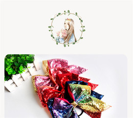 Hair Color Edges Australia - Free shipping! Butterfly knot sequins for children,Pure color edge clips.A variety of festival girls' hair ornaments.mixed color.